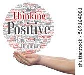 concept conceptual positive... | Shutterstock . vector #569164081