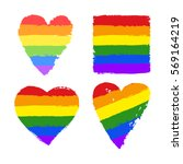 vector gay pride design... | Shutterstock .eps vector #569164219