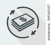 money transfer icon   dollars | Shutterstock .eps vector #569165107