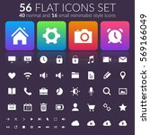 flat user interface icons set...