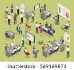 business coaching vector... | Shutterstock .eps vector #569169871