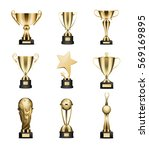 Golden Trophy Cups Collection...