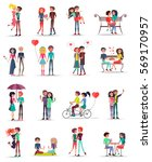 dating of couples in love... | Shutterstock .eps vector #569170957