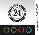 black laurel wreath anniversary.... | Shutterstock .eps vector #569173477