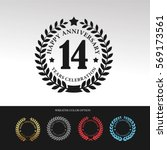 black laurel wreath anniversary.... | Shutterstock .eps vector #569173561