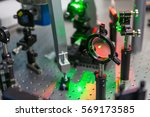 the study of lasers on the test ... | Shutterstock . vector #569173585