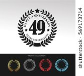 black laurel wreath anniversary.... | Shutterstock .eps vector #569173714