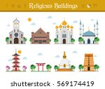 set of religious buildings...