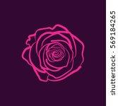 Stock vector rose flower 569184265