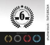 black laurel wreath anniversary.... | Shutterstock .eps vector #569188264