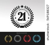black laurel wreath anniversary.... | Shutterstock .eps vector #569188327