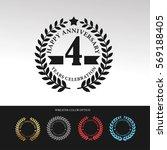black laurel wreath anniversary.... | Shutterstock .eps vector #569188405
