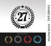 black laurel wreath anniversary.... | Shutterstock .eps vector #569188441