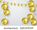 celebration party banner with... | Shutterstock .eps vector #569193559