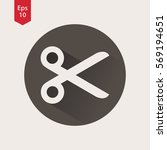 scissors icon in circle. simple ...   Shutterstock .eps vector #569194651