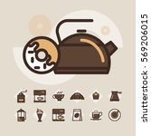 coffee icons set | Shutterstock .eps vector #569206015
