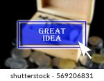 business background with blue... | Shutterstock . vector #569206831