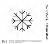 snow flake icon | Shutterstock .eps vector #569207749
