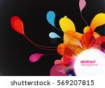 abstract colored background. | Shutterstock .eps vector #569207815