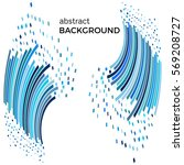 abstract background with blue... | Shutterstock .eps vector #569208727