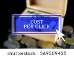 business background with blue... | Shutterstock . vector #569209435