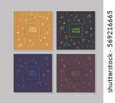 abstract cover set with graphic ...