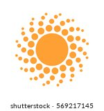 sun dots icon. vector... | Shutterstock .eps vector #569217145