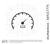 speedometer icon | Shutterstock .eps vector #569217775