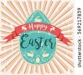 Vintage Easter Background....