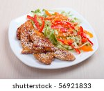 roasted sirloin chicken with... | Shutterstock . vector #56921833