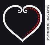 heart outline icon elegant... | Shutterstock .eps vector #569218489