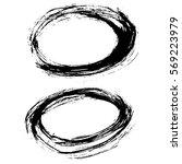 grunge vector frame. hand drawn ... | Shutterstock .eps vector #569223979