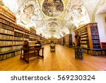 old vintage library wood... | Shutterstock . vector #569230324