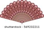 Hand Fan In Oriental Chinese...