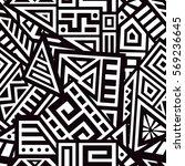 unique geometric vector... | Shutterstock .eps vector #569236645