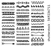 collection of hand drawn... | Shutterstock .eps vector #569236711