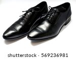 a pair of leather elegant shoes ... | Shutterstock . vector #569236981