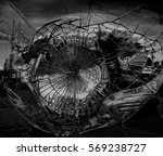 broken mirror in dark colors | Shutterstock . vector #569238727