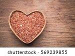 Organic Rice Grain In Heart...
