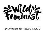 calligraphy lettering wild...   Shutterstock .eps vector #569242279