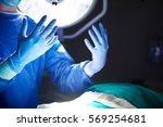hands of surgeon before the... | Shutterstock . vector #569254681