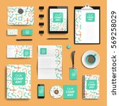corporate identity stationery... | Shutterstock .eps vector #569258029