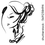 vector  stylish  original hand... | Shutterstock .eps vector #569258494