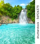"beautiful ""dambri"" waterfall in ... | Shutterstock . vector #56926375"