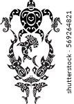 maori tattoo set. idea for... | Shutterstock .eps vector #569264821