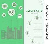 smart city vector concept.... | Shutterstock .eps vector #569266399