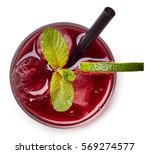 glass of red cherry soda drink... | Shutterstock . vector #569274577