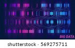 big data visualization.... | Shutterstock .eps vector #569275711