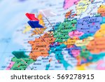 map of europe with pins ... | Shutterstock . vector #569278915