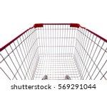 shopping cart isolated on white ... | Shutterstock . vector #569291044